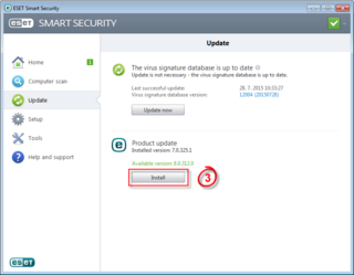 Windows 10 compatibility with ESET, Install image